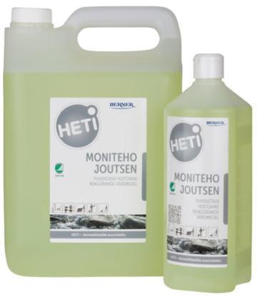 HETI Moniteho Joutsen rengöringsmedel för hårda ytor i 5 liters dunk och 1liters flaska
